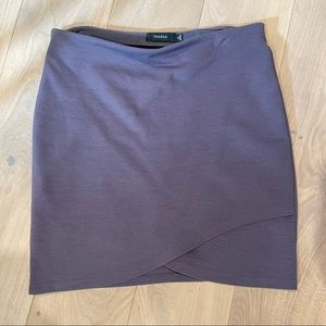 Aritzia Talula grey Primrose Skirt • chalet colour